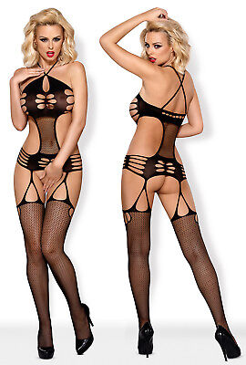 OBSESSIVE N116 Luxury Super Soft Decorative Fishnet Bodystocking