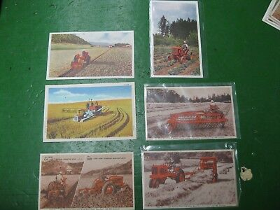 Original Allis Chalmers AC Post Cards Lot of 6 WC WD CA All Crop Roto Baler