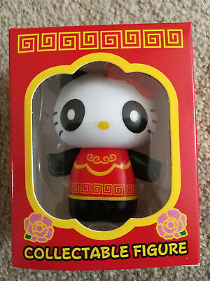 Hello Kitty Vinyl Collectible Figure Panda Red Chinese Outfit Sanrio Collectable