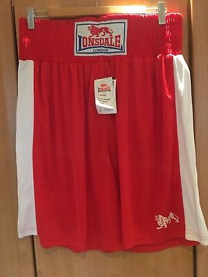 Lonsdale Club Short Red/white Large