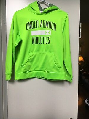 Under Armour Hoodie Sweatshirt Neon Green / Size Youth Medium YMD