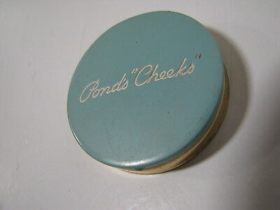 POND'S CHEEKS Vintage ROUGE TIN Makeup Compact RASCAL RED Metal PURSE MINI SIZE