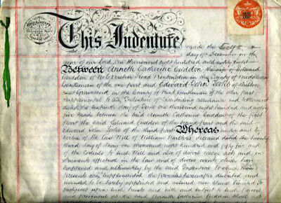 1888 Appointment & Settlement (Will & Testament) Annette Cudden, London, UK, GB