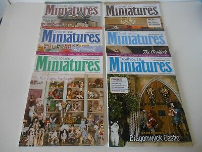 Dollhouse Miniatures Magazine 2014  Lot Of 6  Issues 37-42