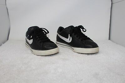 uk availability 8efc8 dead7 Nike Sweet Classic Low Leather Shoes Black Mens Size 10 318333-011 (b93)