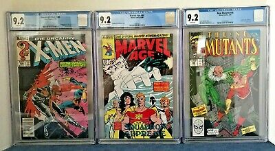 X-Men 201 Cgc 9.2 1St Ap Cable/baby. Nm 86 Cable Cam 9.2, 87 Gold 9.6 + 89 9.6