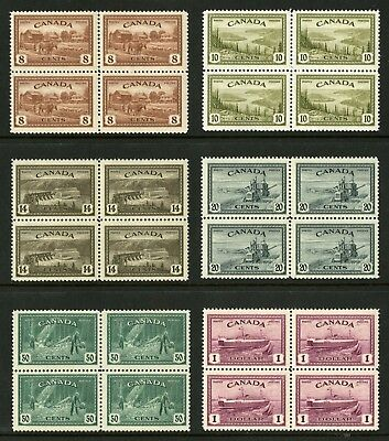 CANADA Scott 268 to 273 - NH - BLKs of 4 - Complete Set Peace Issue (.041)