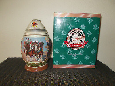 2001 Anheuser Busch Membership Collectors Club Lidded Beer Stein Cb17 Legacy