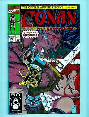 CONAN THE BARBARIAN #242 VF/NM 9.0 (Marvel) 1991 Jim Lee cover art