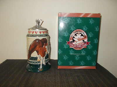 2000 Anheuser Busch Membership Collectors Club Lidded Beer Stein Cb14 Greatness