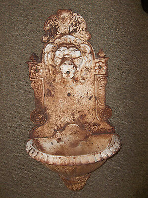 Antique Cast Iron Lions Head Lavabo Wall Fountain Sink Planter