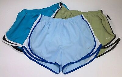 Nike Dri-Fit Womens Large 12-14 Running Track Athletic Lined Shorts Lot Of 3 D17
