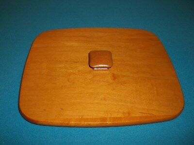 """Longaberger Wooden Lid With Square Handle 10 1/4"""" X 8 5/8"""""""