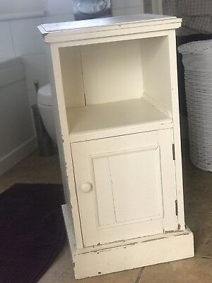 Antique Victorian rustic painted shabby chic pine cupboard  Cabinet