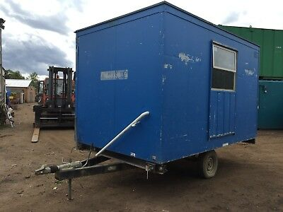 Towable Welfare Unit Site Office Cabin Canteen Anti Vandal Steel More Available