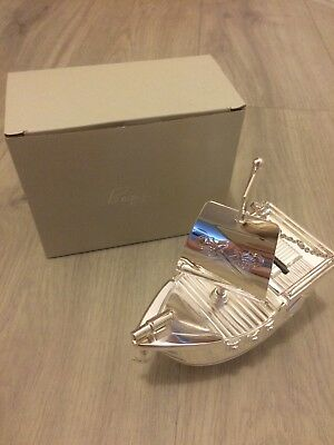 BAMBINO Silverplated Pirate Ship Money Box. Brand new in box. Ideal as gift