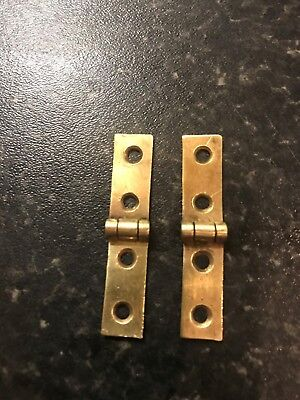 Pair of brass strap hinges for vintage or antique writing slope