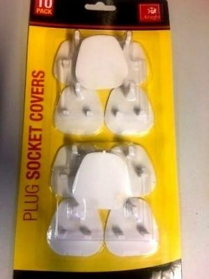 10x Plug Socket Covers Children's Safety Protector for UK 3 pin