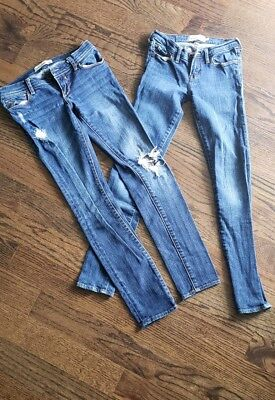 Lot Of 2 Abercrombie Skinny Jeans Size 12 (Kids)