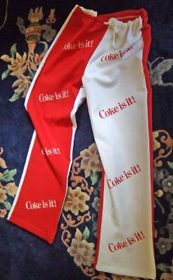 1980s Coke Is It athletic pants~adult size M~exc./unused cond.