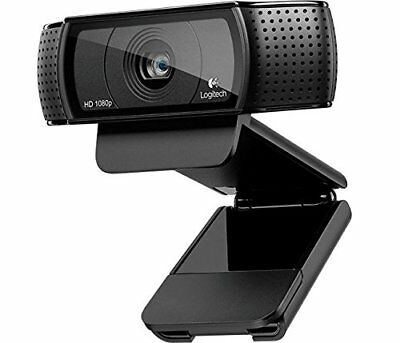 Logitech C920 Pro HD Webcam 1080p Microphone Video Call Skype USB PC NEW **OO**