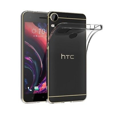 New Ultra Thin Clear Silicone Transparent Slim Gel Case Cover For HTC Phones