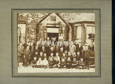 Real Photo - Group Photo (sitting in the snow!?) VICTORIAN SCHOOL or INSTITUTION