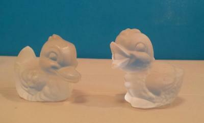 Vintage 1980*Goebel Frosted Glass*Duck*Chick* Figurines*Paperweight*