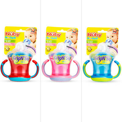 Nuby No Spill Grip n Sip Cup 210mL - Assorted*