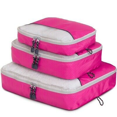 Globite 3 Piece Packing Cube Set - Pink