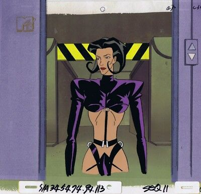 AEON FLUX Original Production Cel Cell Animation Art Liquid TV MTV COA 1990's
