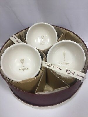 Williams Sonoma Wine Series Dipping Bowls Embossed  SET OF 6