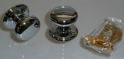 Lot of 5 Gainsborough Passage Solid Chrome Concord Door Knobs Sets