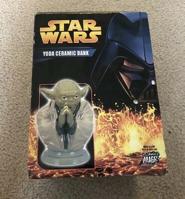 Star Wars Comic Images Yoda Ceramic Bank Statue New From 2005 a6816