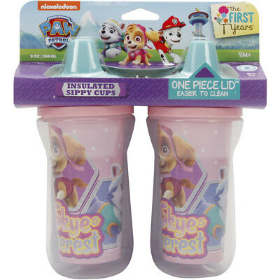 Paw Patrol Insulated Sippy Cups 266mL 2 Pack