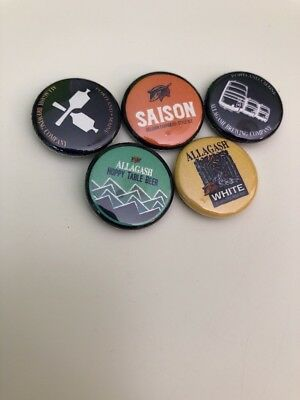 ALLAGASH BREWIING Set Of 5 1 inch buttons badges pins craft beer saison
