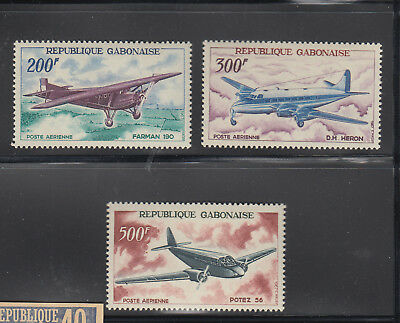 Gabon 1967 Aircraft C50-C52  complete  mint never hinged