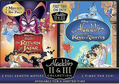 Return Of Jafar/aladdin And King Of Thieves~aladdin 2&3 Collection) 2 DVD NEW !