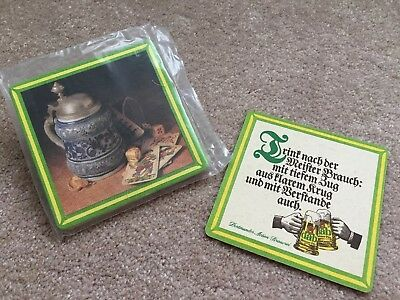 7 Vintage German Dab Beer Coasters - 6 NIP