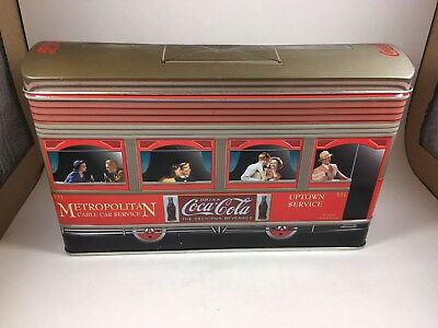 Vintage Coca Cola Cable Car Trolly Tin metal collectible red advertising