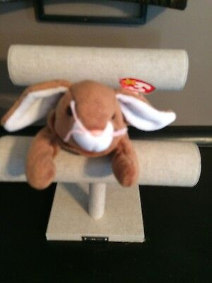 Ty Beanie Baby Retired 1995 EARS the rabbit original 1995 with tag errors Rare