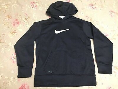 Nike Boys Black Therma Fit Hoodie Size Large