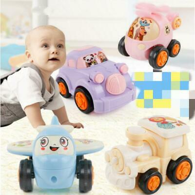4pcs Mini Push and Go Car Toys Friction Powered Vehicles Model Toys Gifts Q