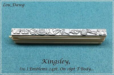 Kingsley Machine Type ( 10-Emblems 24pt. ) Hot Foil Stamping Machine