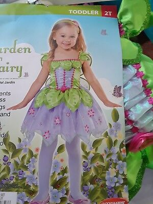 Girl 3Pc Garden Fairy Costume Halloween 2T Toddler Ships Same Day*3 Day Delivery