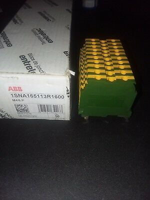 ABB M4/6.P YELLOW AND GREEN TERMINAL BLOCK 1SNA165113R1600 Lot of 10