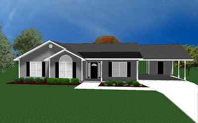 House Plans for 1490 Sq. Ft. 3 Bedroom House w/Carport