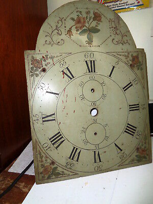Antique-American-Wooden Works-Grandfather Clock Dial-Ca.1825-#P530