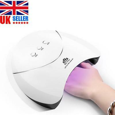 UK 36W UV Lamp Gel Polish Curing Nail Art Dryer Manicure With 120s Timer 12 LED