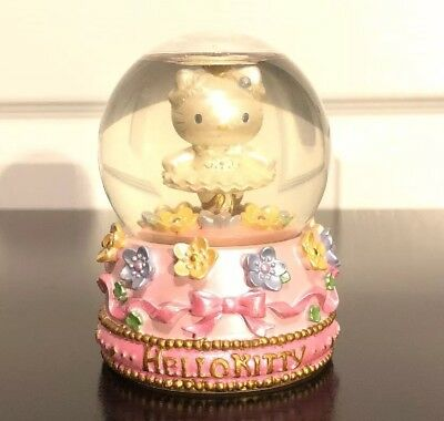 Hello Kitty Snow Globe 2002 Ballerina Tutu Pink Base RARE